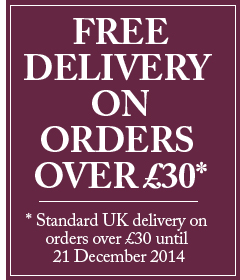 FREE DELIVERY on orders over £30 until Sunday 21 December 2014. Standard UK delivery usually charged at £4.95.