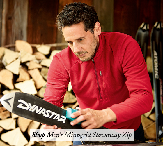 Shop Men's Microgrid Stowaway Zip.
