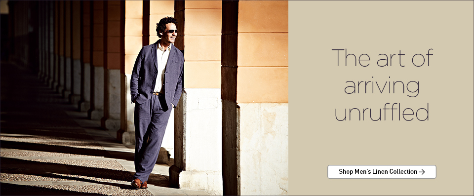 Rohan - The art of arriving unruffled. Shop Men's Linen Collection.