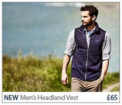 NEW Men's Headland Vest £65. BUY NOW.