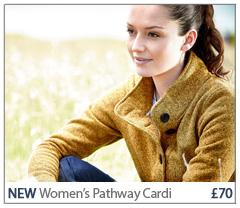 Women's Pathway Cardi £70. BUY NOW.