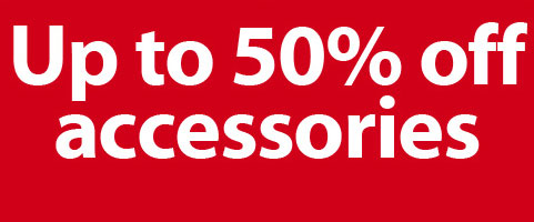 Up to 50% off accessories.