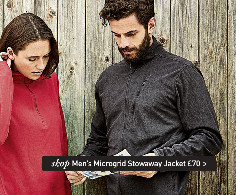 If you want to stay warm, wear a fleece full of holes. SHOP Men's Microgrid Stowaway Jacket.