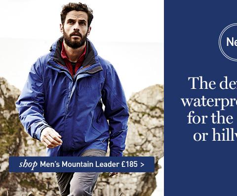 NEW Mountain Leader Jacket. The definitive waterproof shell for the trekker or hillwalker. SHOP Men's Mountain Leader Jacket.