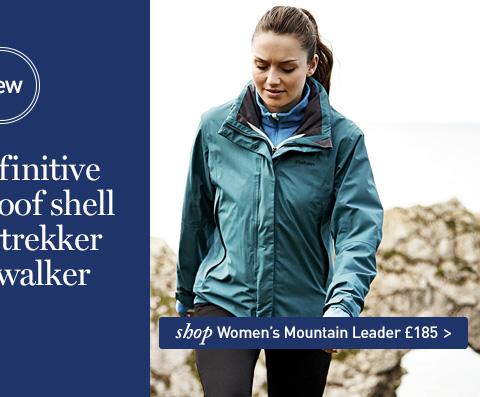NEW Mountain Leader Jacket. The definitive waterproof shell for the trekker or hillwalker. SHOP Women's Mountain Leader Jacket.