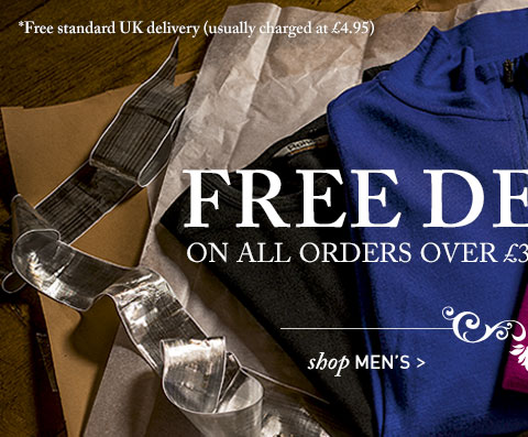 Free standard UK delivery usually charged at £4.95 on all orders over £30 until 20 December 2013. Shop Men's