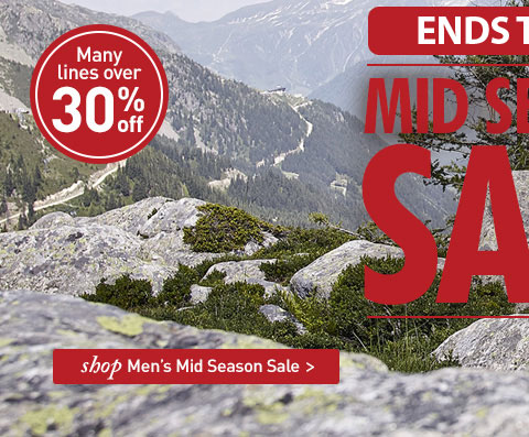 MID SEASON SALE. Many lines over 30% off. SHOP Men's Mid Season Sale.