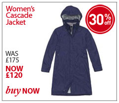 Women's Cascade Jacket. WAS £175 NOW £87.50. SHOP Women's Cascade Jacket.