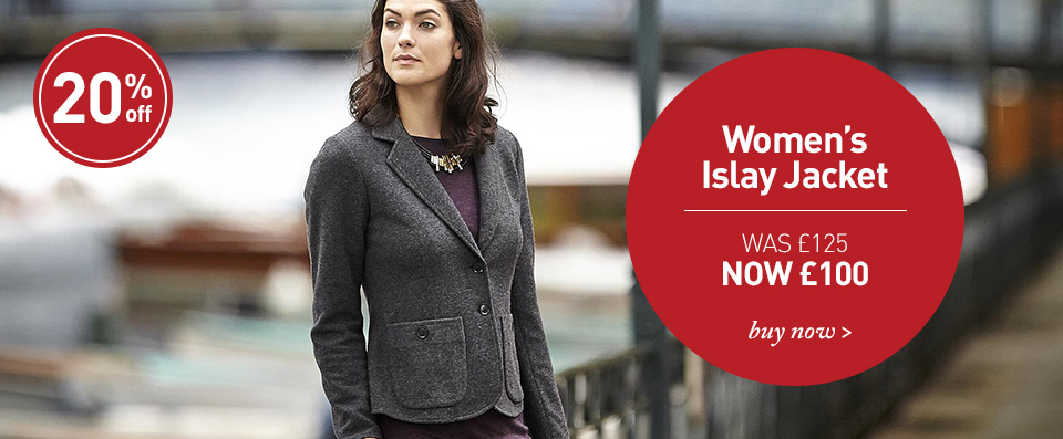 Women's Islay Jacket. WAS £125. NOW £100. SHOP Men's Women's Islay Jacket.