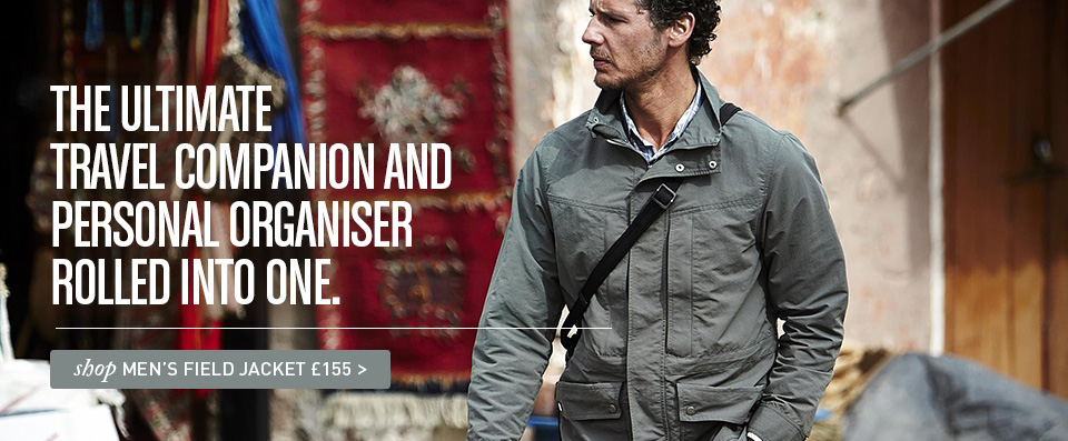The ultimate travel companion and personal organiser rolled into one. Shop Men's Field Jacket £155.