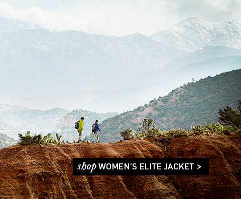 From the top of the mountain to the bottom of your rucksack.  Shop Women's Elite Jacket.