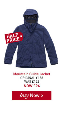 Men's Mountain Guide Jacket. ORIGINAL £188. WAS £122. NOW £94. BUY NOW.