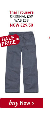 Women's Thai Trousers. ORIGINAL £59. WAS £47.38. NOW £29.50. BUY NOW.
