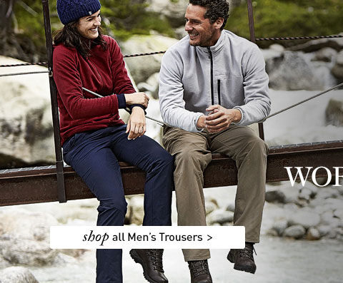 At Rohan, it all starts with trousers. SHOP All Men's Trousers.