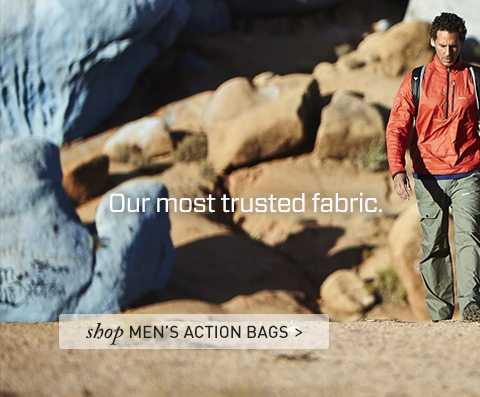 Our most trusted fabric. Our newest trousers. Shop Men's Action Bags.