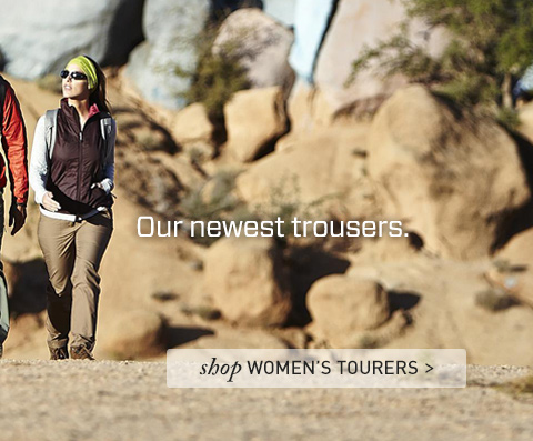 Our most trusted fabric. Our newest trousers. Shop Women's Tourers
