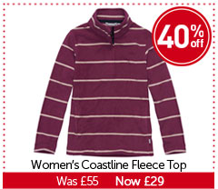 Women's Coastline Fleece. WAS £55. NOW £29. BUY NOW.