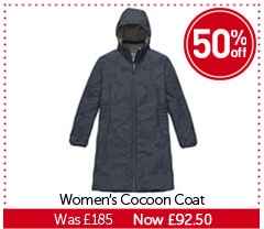 Women's Cocoon Coat. WAS £185. NOW £92.50. BUY NOW.