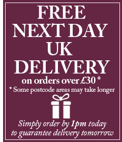 FREE NEXT DAY UK DELIVERY*. Simply order by 1pm today to guarantee delivery tomorrow. (*Some postcode areas may take longer.)