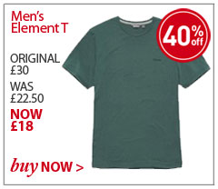 Men's Element T. ORIGINAL £30. WAS £22.50. NOW £18. SAVE 40%. BUY NOW.
