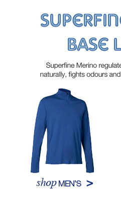 Superfine Merino Base Layers. Shop Men's.