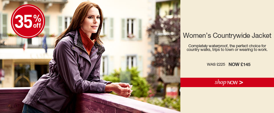 Women's Countrywide Jacket. Save 35% WAS £225. NOW £145. SHOP NOW.