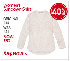 Women's Sundown Shirt. ORIGINAL £55. WAS £41. NOW £32. SAVE 40%. BUY NOW.