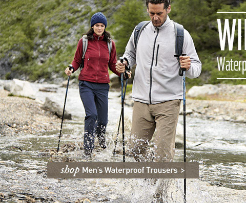 Waterproof trousers for people who hate waterproof trousers. SHOP Men's Waterproof Trousers.