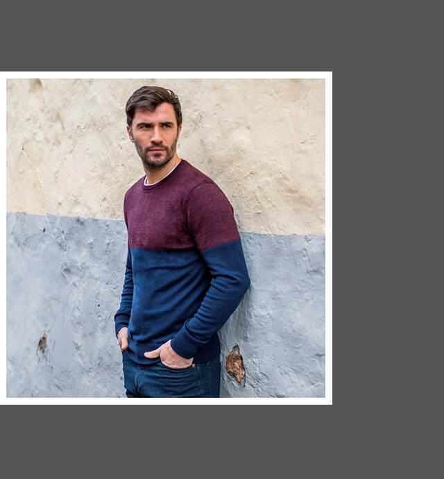 Men's Extrafine Merino Knitted Crew-Neck
