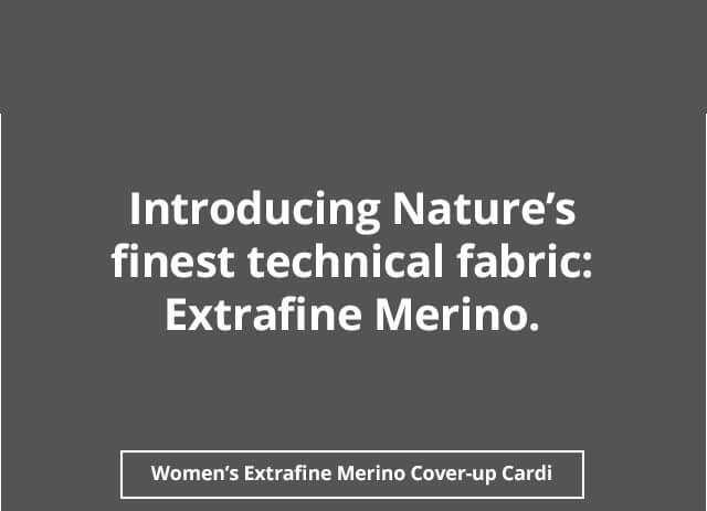 Women's Extrafine Merino Knitted Cover-Up Cardi