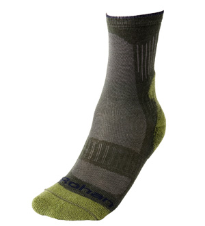 Men's Temperate & Cool Socks - Alp Green