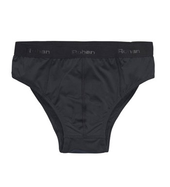 Men's Cool Silver Briefs - Black