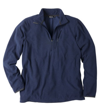 Men's Microgrid Stowaway Zip - Eclipse Blue