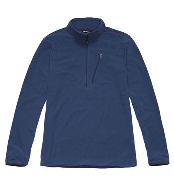 Men's Microgrid Stowaway Zip - Mariner Blue