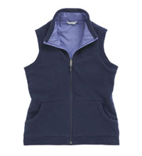 Reversible windproof fleece vest
