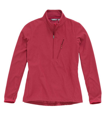 Women's Microgrid Stowaway Zip - Red Bud