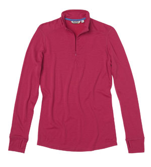 Women's Superfine Merino 200 Zip - Persian Pink