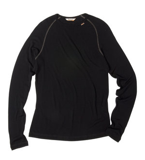 Men's Superfine Merino 150 Crew - Black/Charcoal