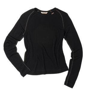 Women's Superfine Merino 150 Crew - Black/Charcoal