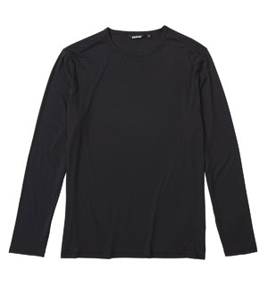 Men's Ultra Silver T Long Sleeve - Black