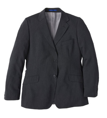 Men's Envoy Jacket - Charcoal Pinstripe