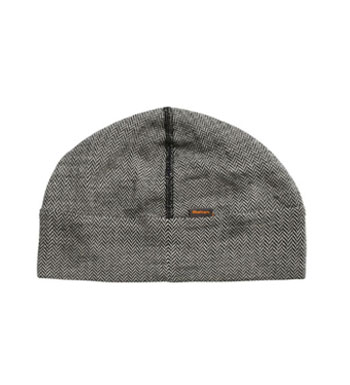 Superfine Merino 200 Hat - Grey Herringbone