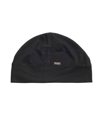 Superfine Merino 200 Hat - Black/Ember Orange