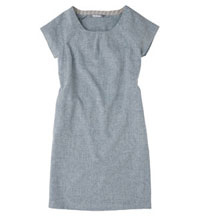 Technical linen dress