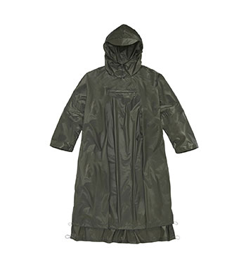 Unisex Canopy Cape Long - Landmark Green