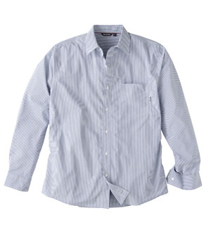 Men's Worldview Shirt - Blue Stripe