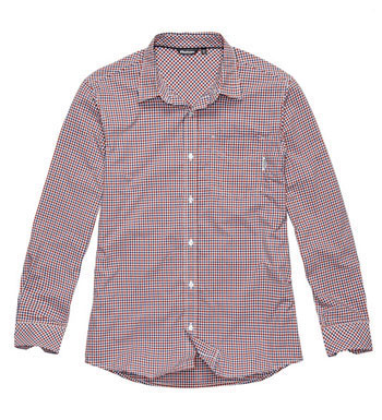 Men's Worldview Shirt - Red Gingham