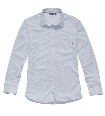 Men's Worldview Shirt - Blue Micro Check
