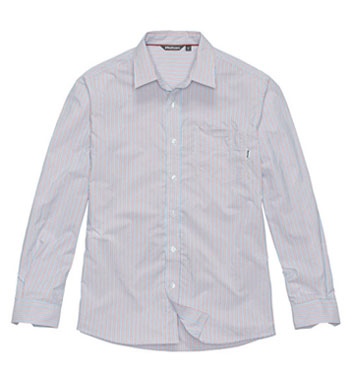 Men's Worldview Shirt - Blue/Red Stripe
