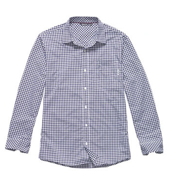 Men's Worldview Shirt - Dark Iris Gingham